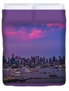 A Spectacular New York City Evening Duvet Cover by Susan Candelario