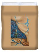 A Spelunkers Search For Life Duvet Cover