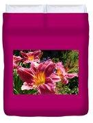 A Splash Of Lilies Duvet Cover
