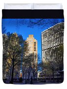 A Spring Day At Rittenhouse Square Duvet Cover