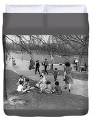A Spring Day In Central Park Duvet Cover