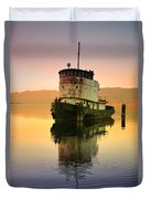 A Spring Evening At The Lake Duvet Cover
