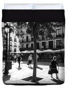 A Square In Toledo - Spain Duvet Cover