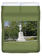 A Statue Of Colonel Thayer Duvet Cover