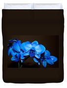 A Stem Of Beautiful Blue Orchids Duvet Cover