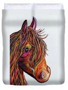 A Stick Horse Named Amber Duvet Cover