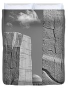 A Stone Of Hope Bw Duvet Cover by Susan Candelario