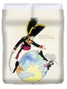 A Stoppage To A Stride Over The Globe, 1803 Litho Duvet Cover