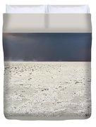 A Storm Approaching The Salt Pan Duvet Cover
