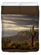 A Stormy Evening In The Superstitions  Duvet Cover