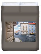 A Street In Prague Duvet Cover