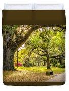 A Stroll In City Park Duvet Cover