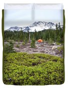 A Summer Day Camping At The Foot Of Mt Duvet Cover