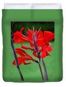 A Summer Red Flower Duvet Cover
