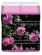 A Summer's Day Pink Romance Duvet Cover