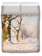A Sunny Winter's Day Duvet Cover