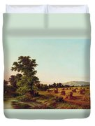 A Surrey Cornfield Duvet Cover by Walter Williams