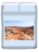 A Sweeping Vista At Bryce Canyon  Duvet Cover
