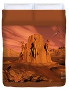 A Team Of Explorers From Earth Duvet Cover