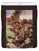 A Thrilling Charge, Illustration Duvet Cover