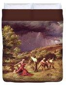A Thunder Shower, 1859 Duvet Cover