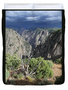 A Thunderstorm Is Approaching Over The Black Canyon Duvet Cover