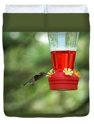 A Tiny Little Ruby-throated Hummingbirds Duvet Cover