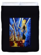 A Toast To The Little Black Dress By Madart Duvet Cover