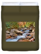 A Touch Of Autumn At Skinny Dip Falls Duvet Cover