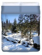 A Touch Of Snow Duvet Cover