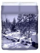 A Touch Of Snow In Lavender Duvet Cover