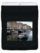 A Tour Boat At Nyhavn Duvet Cover