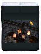 A Tower City Night Duvet Cover