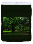 A Tree And A Bench Duvet Cover
