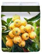 A Tree Full Of Ripe Loquats Duvet Cover