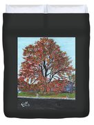 A Tree In Sherborn Duvet Cover