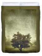 A Tree In The Fog 2 Duvet Cover by Scott Norris
