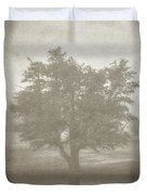 A Tree In The Fog 3 Duvet Cover by Scott Norris