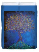 A Tree Of Orbs Glows Duvet Cover