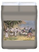 A Troupe Of Bayaderes, Or Indian Duvet Cover by Pierre Sonnerat