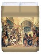 A Turkish Bazaar Duvet Cover