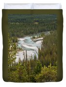 A Turn In The Bow River Duvet Cover