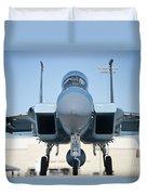 A U.s. Air Force F-15d Eagle Taxis Duvet Cover