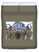 A U.s. Army All Female Crew Duvet Cover