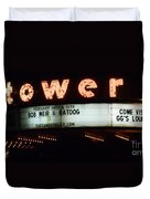 A Valentines Weekend With Ratdog  Tower Theater Marquis Duvet Cover