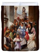 A Venetian Christening Party, 1896 Duvet Cover by Henry Woods