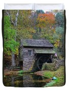A Very Old Grist Mill Duvet Cover