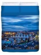 A View At Prague - Czech Republic Duvet Cover