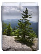 A View From A Mountain In A Vermont State Park Duvet Cover