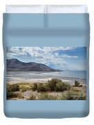 A View From Buffalo Point Of White Rock Bay Duvet Cover